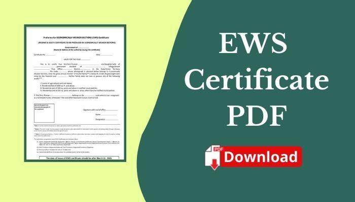 ews certificate pdf