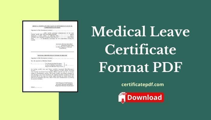 medical leave certificate pdf
