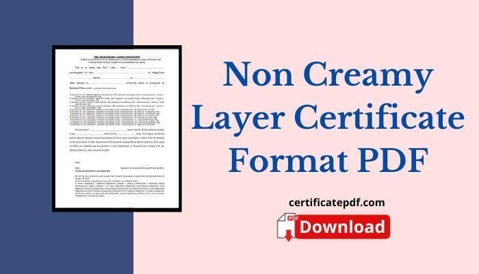 non creamy layer certificate pdf
