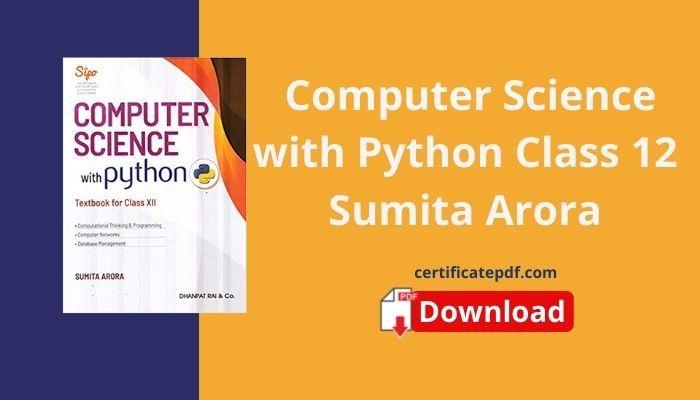 sumita arora python class 12 pdf