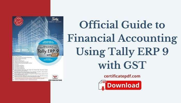 tally erp 9 with gst book pdf