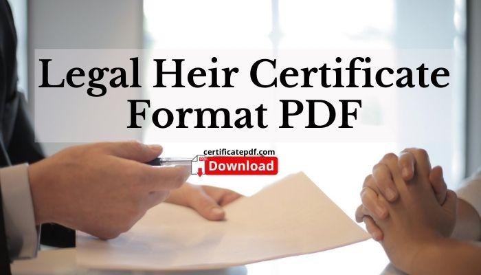 legal heir certificate pdf
